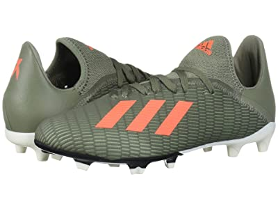 adidas Kids X 19.3 FG Soccer (Little Kid/Big Kid) (Legacy Green/Solar Orange/Chalk White) Kids Shoes