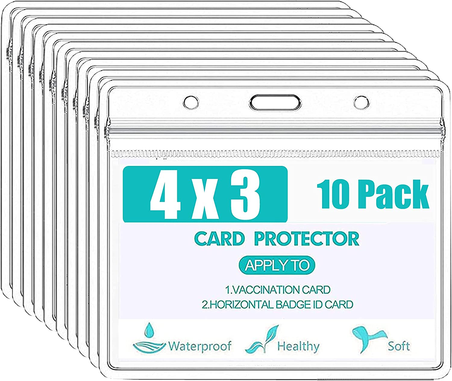 Brand Cheap Sale Venue 10 Packs Card Protector 4 X Max 63% OFF 3 Clear Inches Holder Record