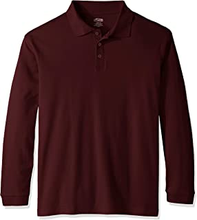 Men's Adult Unisex Long Sleeve Interlock Polo
