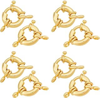 30pcs Spring Ring Clasp Open Jump Ring jewelry Clasp Necklace Bracelet Connector