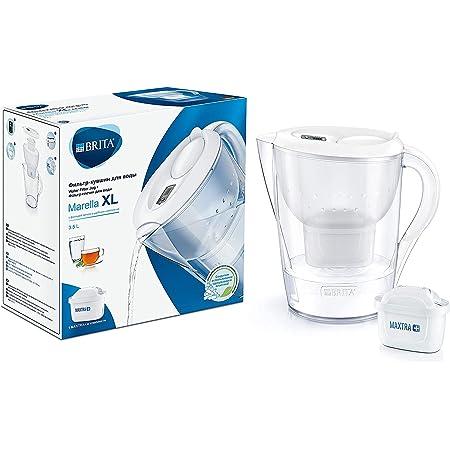 BRITA Carafe filtrante Marella XL blanche - 1 filtre MAXTRA+ inclus