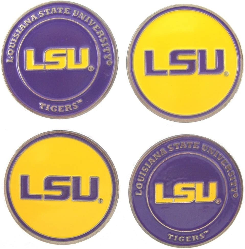 Max 71% OFF Fresno Mall LSU 2-Sided Golf Ball of 4 lot Markers