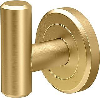 Gatco 4245 Latitude II Single Robe Hook, Chrome Single Hook Brushed Brass