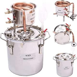 YUEWO DIY Copper Moonshine Still 10L/12L/20L/30L Home Distiller Alcohol Still Distilling Wine Making Homebrewing Boiler Thumper Keg (5 Gal 20 L)