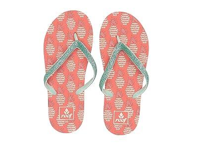 Reef Kids Stargazer Prints (Little Kid/Big Kid) (Pineapple) Girls Shoes