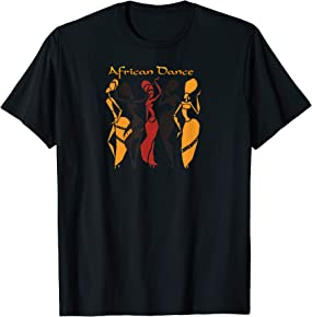 African T-shirts for Women African Dance