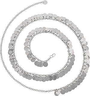 Archi Collection Boho Vintage Antique Oxidized Silver Beaded Leafs Charm Kamarband Waist Chain Jewellery