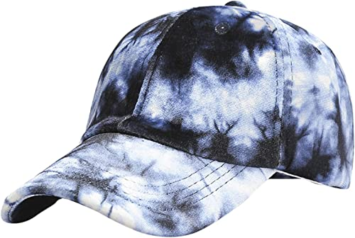 high quality Tie wholesale Dye Print Baseball Cap Adjustable Sun Hat Sports Dad Hat Colorful Cotton Pigment Dyed Cap for Men wholesale Women outlet online sale