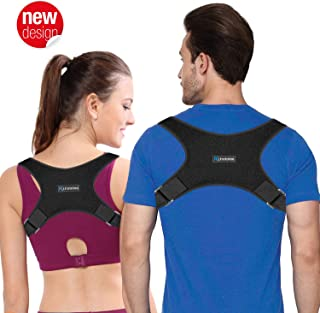 Back Brace Posture Corrector - Back Posture Corrector for Women & Men - Corrects Slouching, Hunching & Bad Posture - Lower Upper Shoulder Neck Pain - Clavicle Support Brace