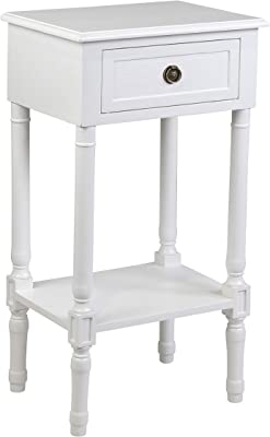 East at Main Lilith end Table, White