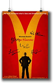 Pentagonwork The Founder (2016) Movie Photo Poster Prints 817-001 Reprint Signed Casts,Wall Art Decor Gift (A4 8x12inch 21x29cm)