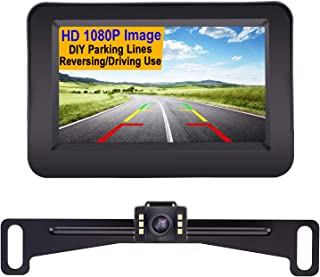 Yakry Y11 HD 1080P Vehicle Backup Camera with 4.3 Inch Monitor One Wire Kit for Reverse/Rear View License Plate Reverse Ca... photo