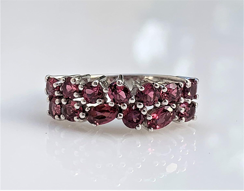 Malaya Garnet Statement Ring 9 Pink Free shipping / New Size Kansas City Mall US
