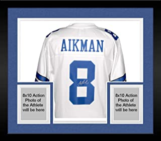 3ba1600ba76 Framed Troy Aikman Dallas Cowboys Autographed Pro Line White Jersey - Fanatics  Authentic Certified - Autographed
