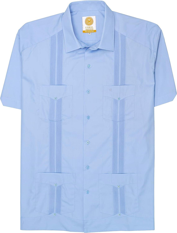 Manchester Men's Big and Tall Guayabera Shirt Short Sleeve