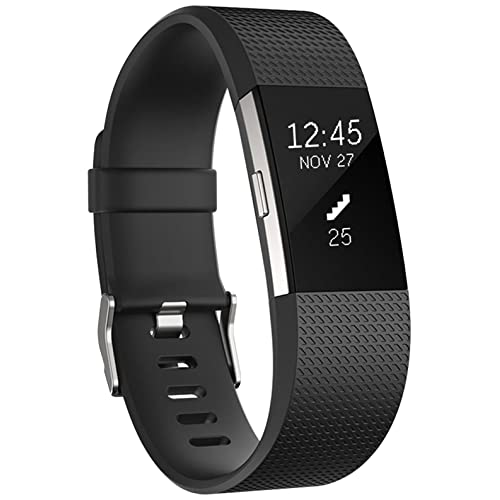 HUMENN Fitbit Charge 2 Strap Wristband, Multicolor (Black), Large
