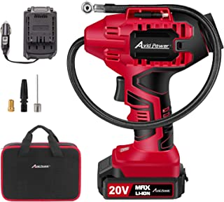 AVID POWER Tire Inflator Air Compressor, 20V Cordless Car Tire Pump with Rechargeable Li-ion Battery, 12V Car Power Adapte...