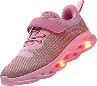 AoSiFu Kids Boys Girls LED Light Up Shoes Casual Walking Shoes USB Charging Flashing Sneakers for Toddler/Little Kid/Big Kid