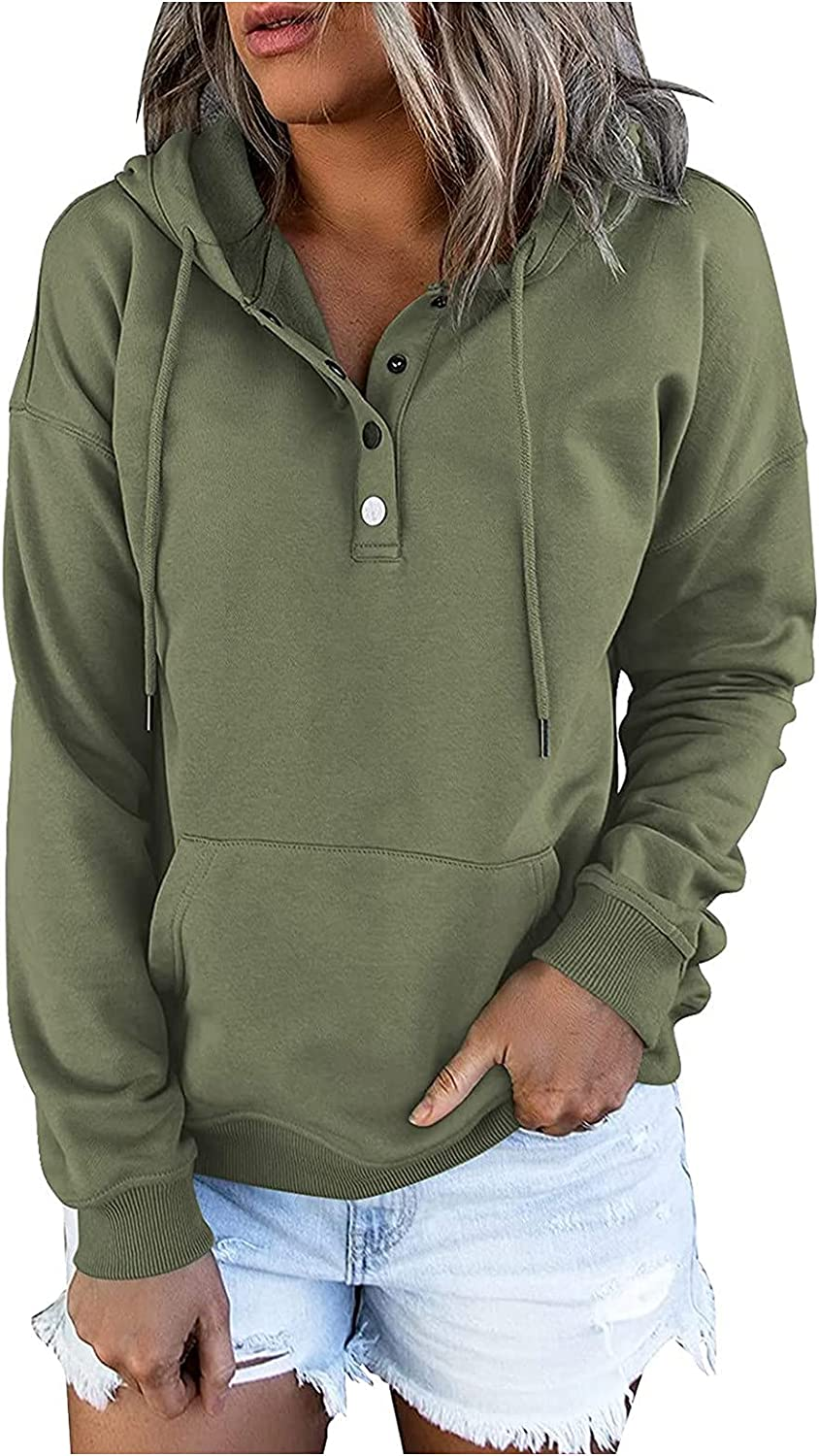 Superior Women's New Free Shipping Casual Hoodies Color Block Oversize Drawstri Sleeve Long
