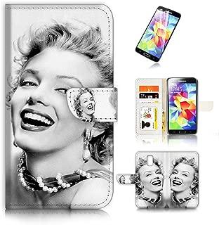 ( For Samsung Galaxy S5 ) Flip Wallet Case Cover & Screen Protector Bundle! A8395 Marilyn Monroe
