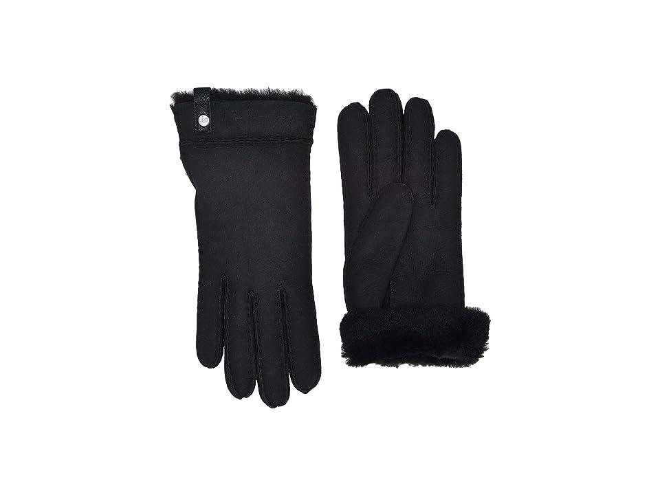 UGG Tenney Water Resistant Sheepskin Gloves (Black Multi) Extreme Cold Weather Gloves
