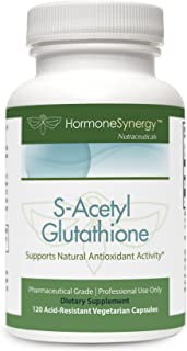 S-Acetyl Glutathione | 120 HPMC Acid Resistant Vegetarian Capsules | Patented Acetylated Glutathione (Emothion®) | Support...