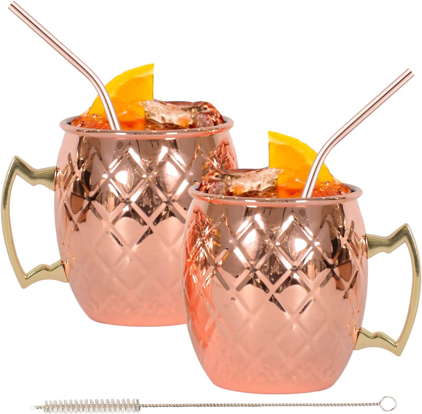 Grid Moscow mule mugs Daily bargain sale for Cocktail Mule Over item handling ☆ Party 16oz Bar Wi