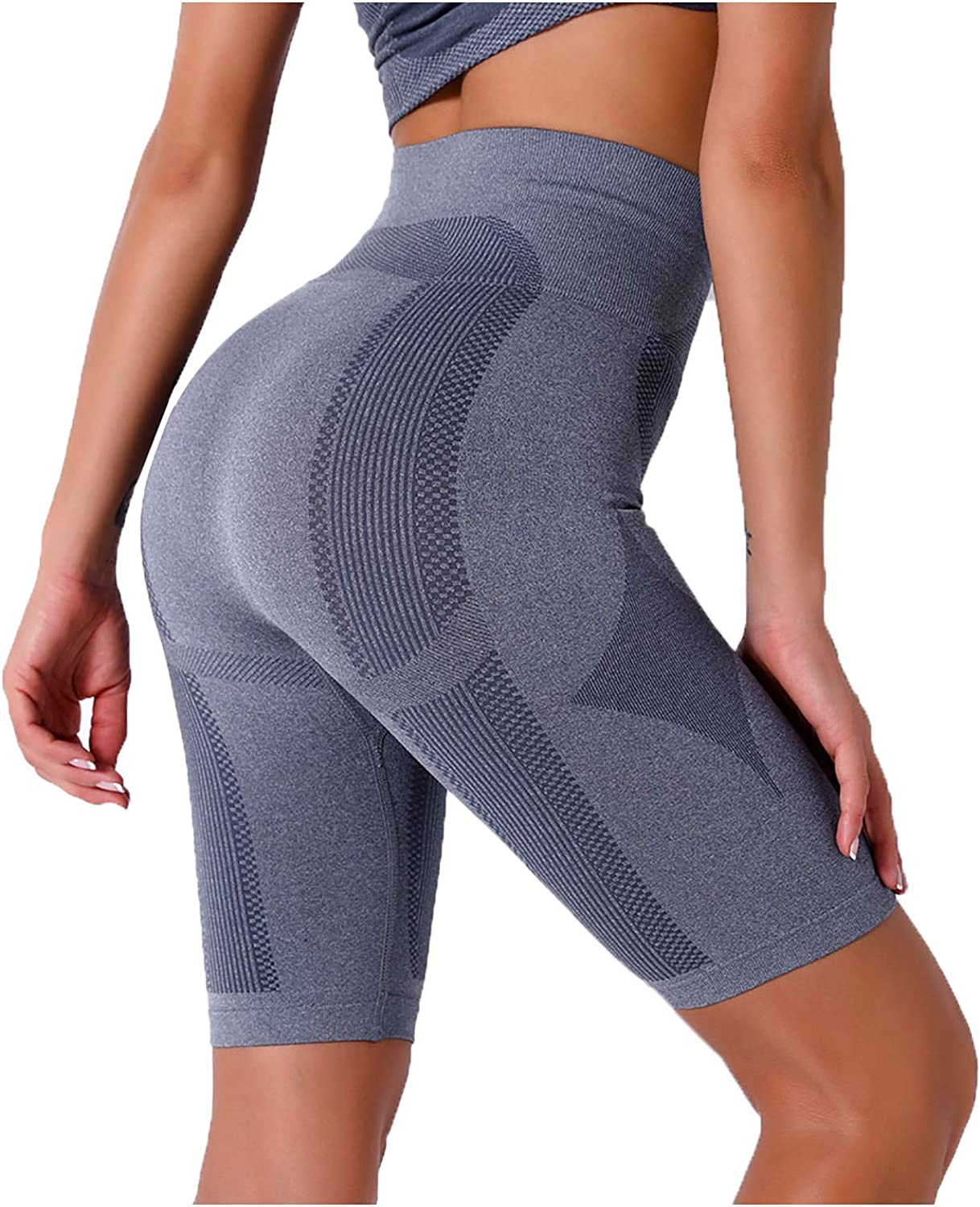 Lovor Yoga Shorts for Women Tummy Control Workout Running Stretch Shorts Cycling Workout Gym Activewear Short Leggings
