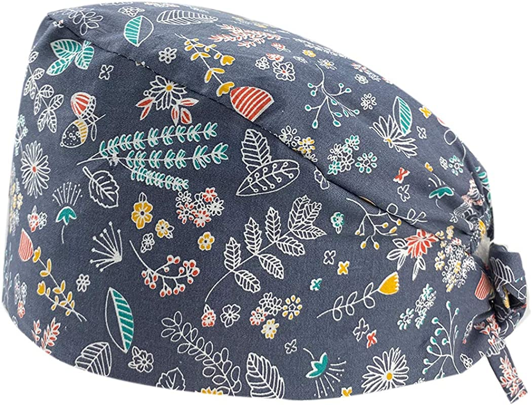Leader Jin Cute Purchase Manufacturer direct delivery Printed Working Turban Cap with Bouffant But