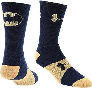 Under Armour Boys' Alter Ego Crew Socks (YLG, Batman (Midnight Navy/Vegas Gold))