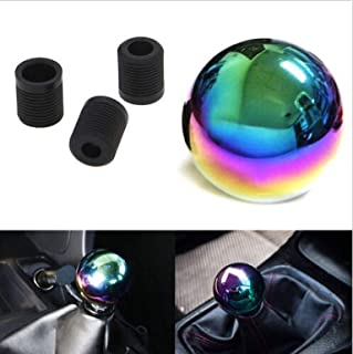 ICBEAMER New Drift Shape Bar Neo Chrome Ball Manual Stick Shift Drive Vehicle Shift Knob [Pack of 1 pc]
