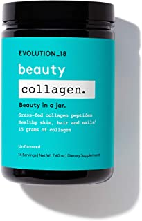 Evolution_18 Beauty Collagen   Collagen Peptides Powder with Protein   for Healthy Skin, Nails & Hair Growth   7.4 Oz (14 ...