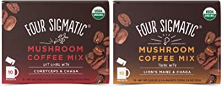 Four Sigmatic Mushroom Coffee Mix Pack of 2 – Lion's Mane and Chaga &..