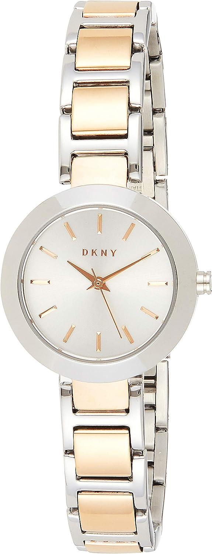 DKNY Reloj analogico para Mujer de Cuarzo con Correa en Acero Inoxidable NY2402