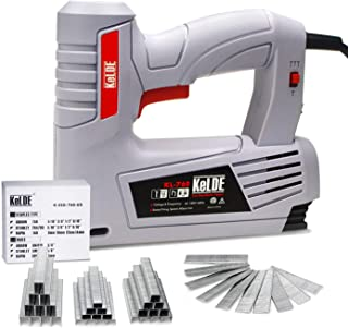 Electric Staple Gun Kit, KeLDE 120V Power Stapler/Brad Nailer with Adjustable Firing Mode Switch, Includes 1500pc T50 Staples and 500pc 15mm Brad Nails