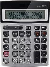 $74 » XIAOSAKU Calculators for Students Calculator 16 Digit Metal Programmer 120 Steps Check Dual Power Office Finance Desktop C...