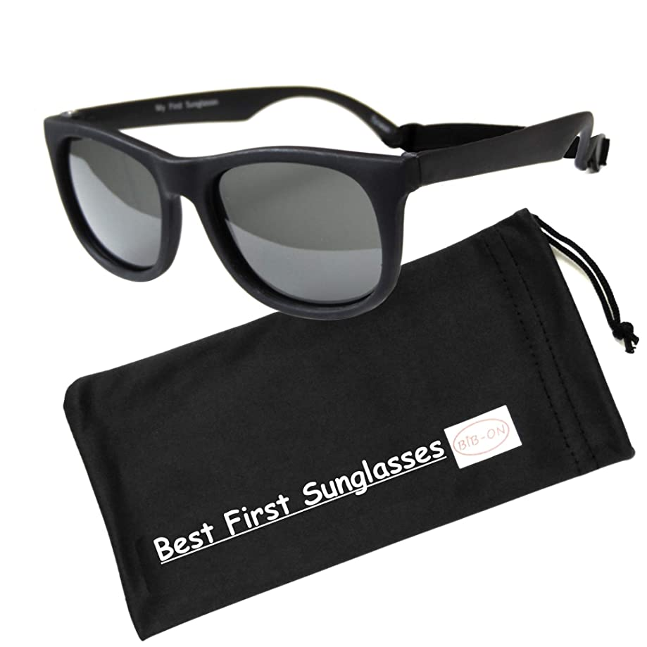 BIB-ON Vintage– Best First Sunglasses for Infant, Baby, Toddler, and Kids! 100% UV Protection. Many Colors and Sizes!