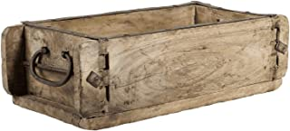The Bridge Collection Decorative Natural Wood Brick Mold Box