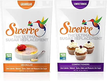 Swerve Sweetener, Bakers Bundle, 12Oz Granular and Confectioners, 12 Ounce, pack of 2