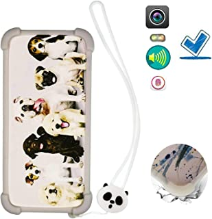 Case for Blu Vivo Go V2.0 Case Silicone border + PC hard backplane Cover DOG