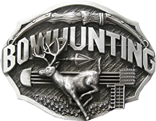 New Vintage Western Wildlife Bowhunting Deer Belt Buckle also Stock in US