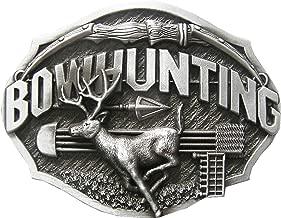 New Vintage Western Wildlife Bowhunting Deer Belt Buckle also Stock in US