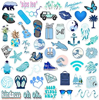 Stickers for Water Bottle Big 50-Pack Cute, Aesthetic, Waterproof Stickers for Girls Teens, VSCO Stickers Pack Perfect for Laptop, Hydro Flask, Skateboard, Travel Case, Extra Durable 100% Vinyl