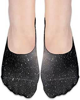 ALPHNJ Calcetines Galaxy Pattern Special Womens Low Cut Sock Casual Calcetines invisibles para niña