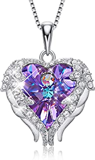 Angel Wing Necklaces for Women Embellished with Crystals from Swarovski Pendant Necklace Heart of Ocean Jewelry Gift for Woman