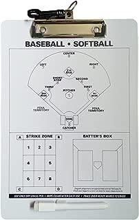 Odowalker Baseball Clipboard Softball Lineup Board Coach Tactics Board Coach's Traning Aid Match Plan Strategy Notebook with Dry Erase Marker Pen