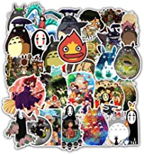 Laptop Stickers Anime Hayao Miyazaki - Decals Vinyl Water Bottle Car Waterproof Bumper Computer Phone Case Book Skateboard Luggage Motorcycle Bike Helmet Decor Graffiti Patches [No-Duplicate] 50 Pack