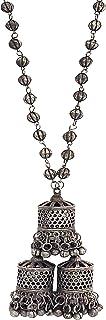 Total Fashion Antique Black Oxidised Designer Jewellery Chain Necklace Set for Women & Girls
