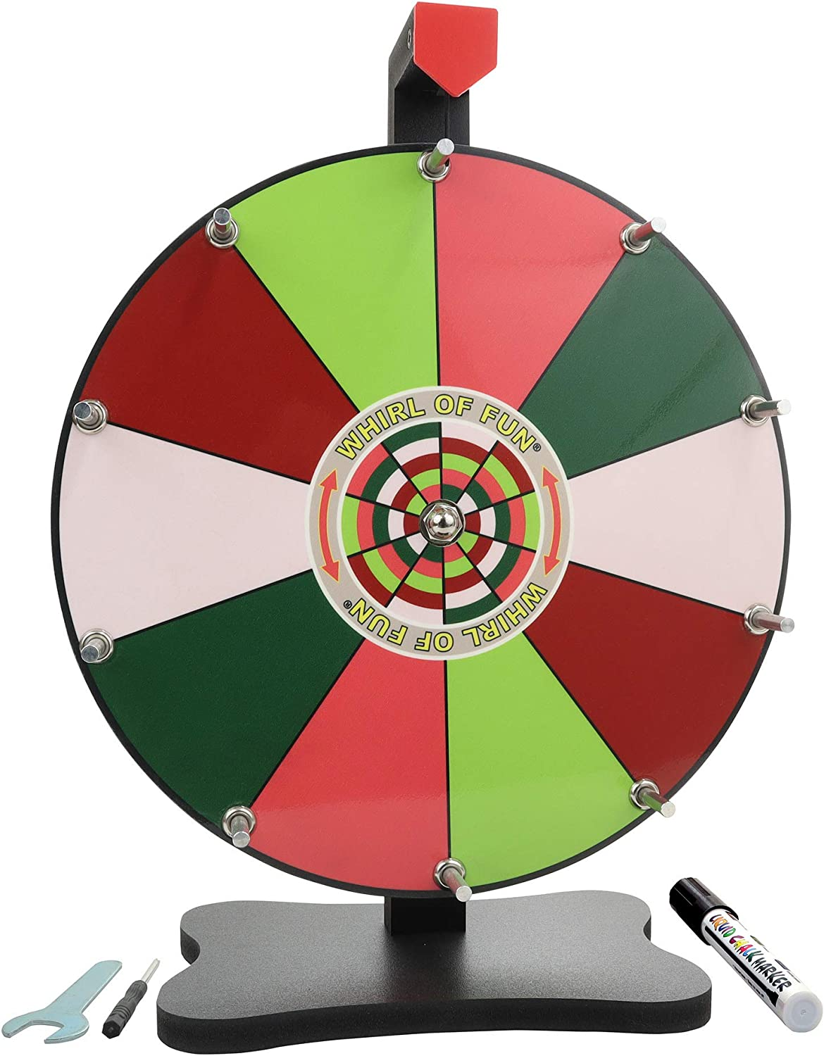 Dedication Whirl of Fun Spinning Prize Popular brand Wheel Inch-Tabletop 1 12 with Stand