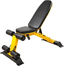 HulkFit Heavy Duty Adjustable and Foldable Utility Weight Benchfor Upright, Incline, Decline, and Flat Exercise, 1000-Pou...